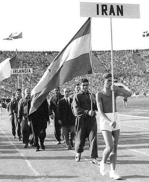 غلامرضا تختی پرچمدار کاروان المپیک