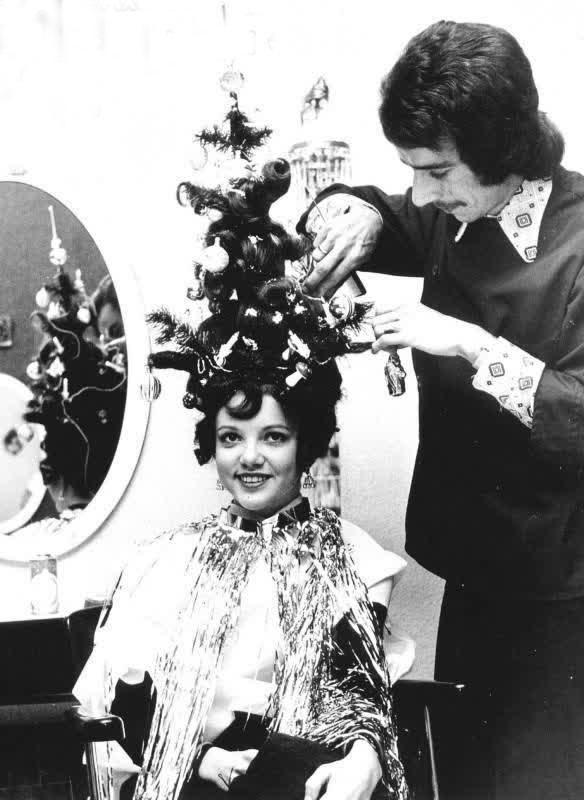 مدل مو شب کریسمس آمریکا سال 1930 میلادی
