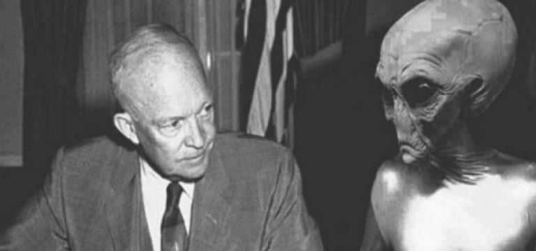 ملاقات آیزنهاور با موجودات فرازمینی