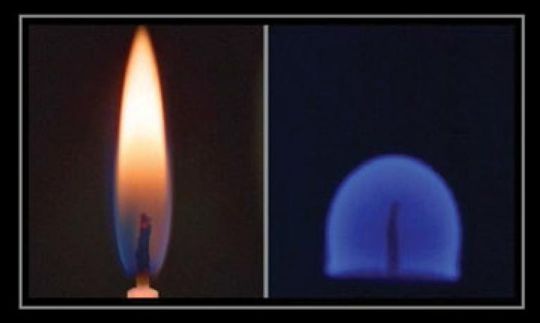 شکل شعله در فضا